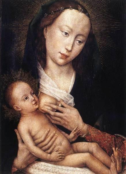 Weyden Portrait Diptych of Jean de Gros left wing